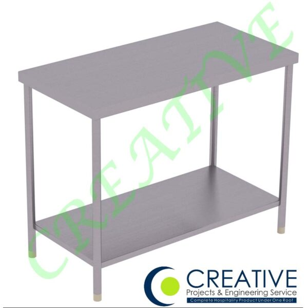 Stainless Steel Work Tables with Undershelves